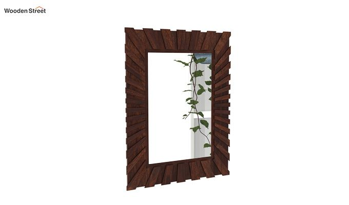 Persian Mirror With Frame (Walnut Finish)-2