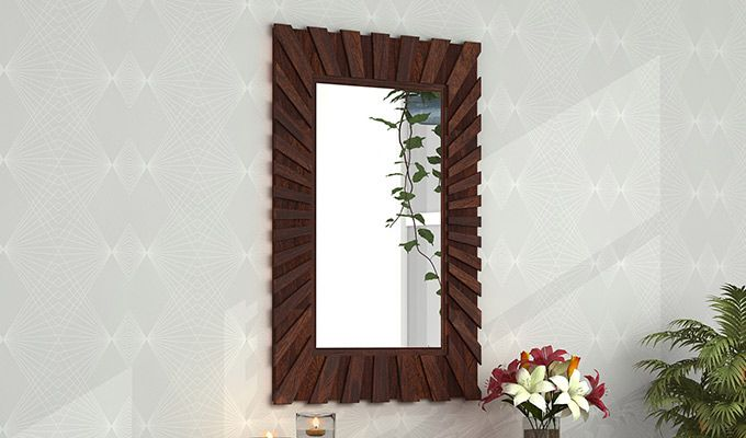 Persian Mirror With Frame (Walnut Finish)-1