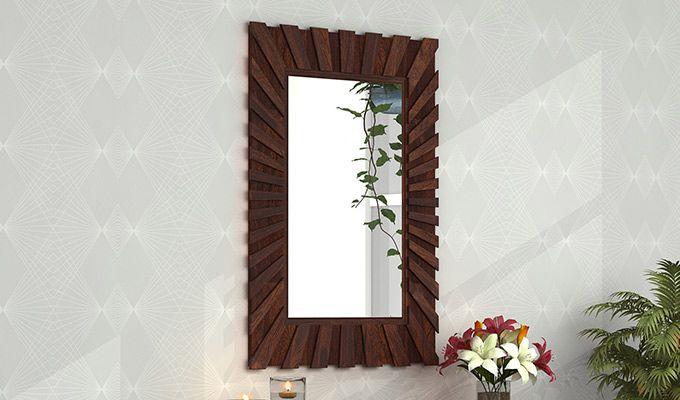 Persian Mirror With Frame (Walnut Finish)-1