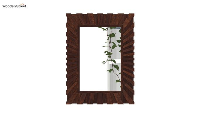 Persian Mirror With Frame (Walnut Finish)-3