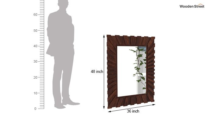 Persian Mirror With Frame (Walnut Finish)-4