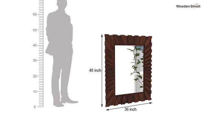 Persian Mirror With Frame (Walnut Finish)-4