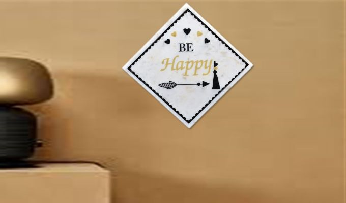 Be Happy Marble Wall Accent-1