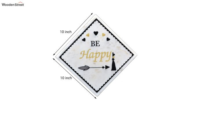 Be Happy Marble Wall Accent-2
