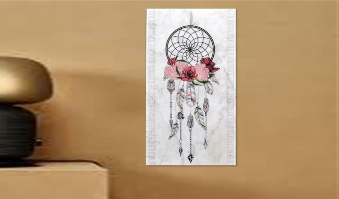Dream Catcher Marble Wall Accent-1