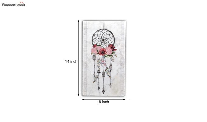 Dream Catcher Marble Wall Accent-3