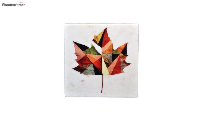 Maple Leaf Marble Wall Accent-2
