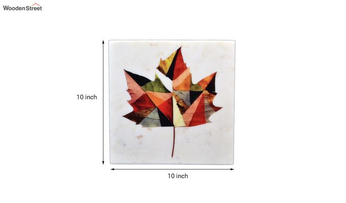 Maple Leaf Marble Wall Accent-3