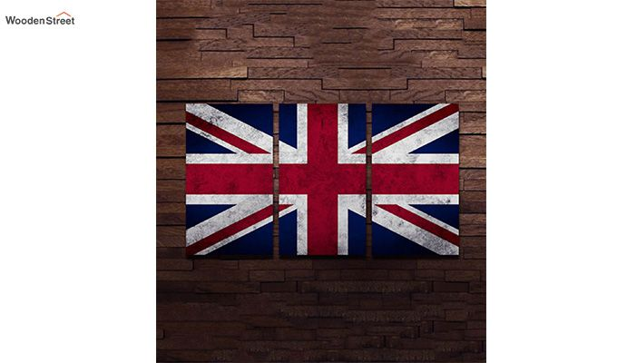 British Flag Metal Wall Hanging (Multi Color)-1