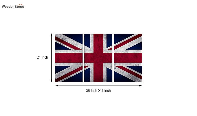 British Flag Metal Wall Hanging (Multi Color)-2