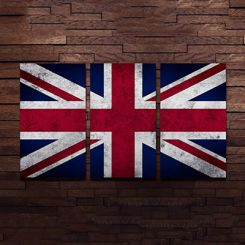 British Flag Metal Wall Hanging (Multi Color)