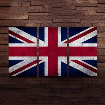British Flag Metal Wall Hanging (Multi Color)