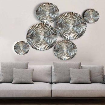 Diaz Steel Mirror Finish Wall Art (Aluminium)