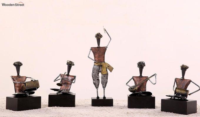 Five Performers Figurine Set of 5  (Multi Color)-1