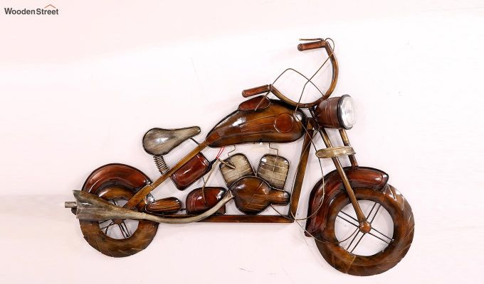 Motorbike Wall Hanging (Brown Color)-1