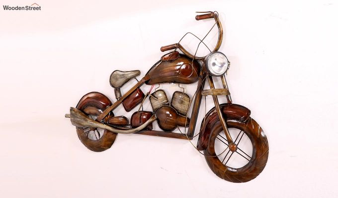 Motorbike Wall Hanging (Brown Color)-3
