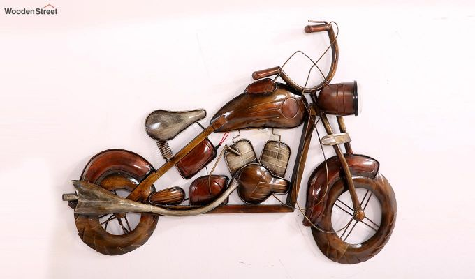 Motorbike Wall Hanging (Brown Color)-4