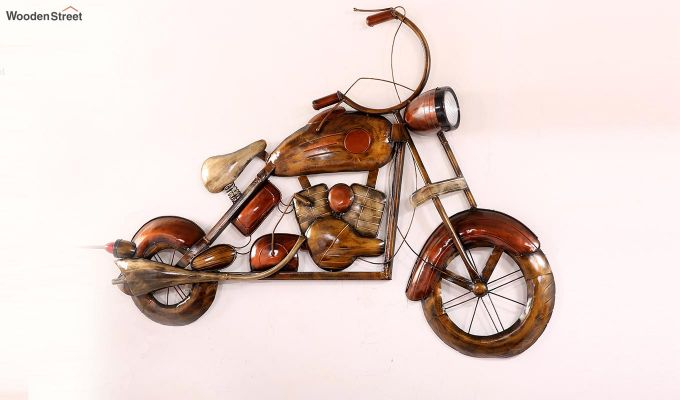 Vintage Motorbike Wall Hanging (Brown Color)-6