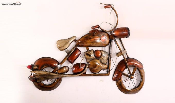 Vintage Motorbike Wall Hanging (Brown Color)-7