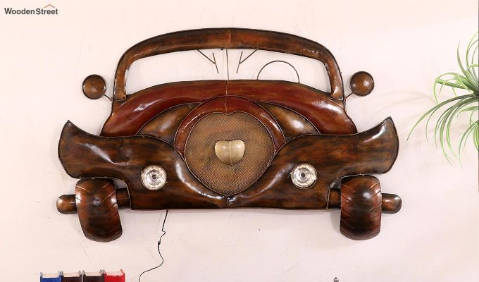Vintage Car Front Wall Hanging (Brown Color)-2