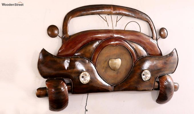 Vintage Car Front Wall Hanging (Brown Color)-4