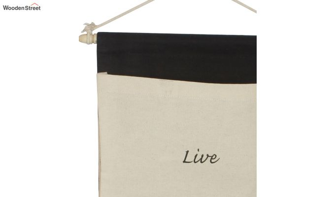 Multipurpose 3 Pocket White and Black Wall Hanging Organizer-4