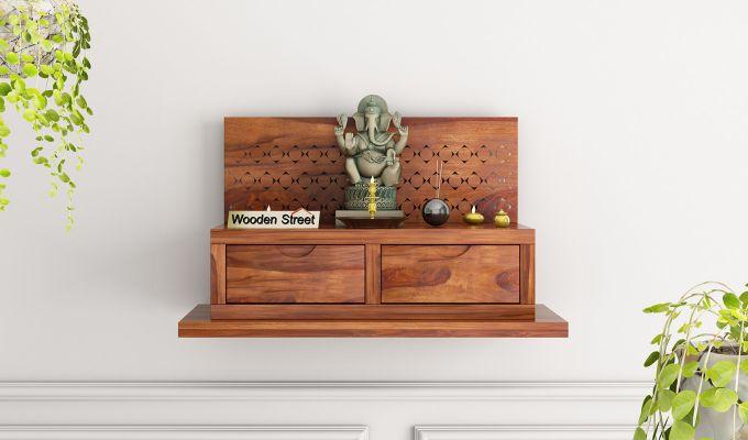 Advait Home Temple (Honey Finish)-1