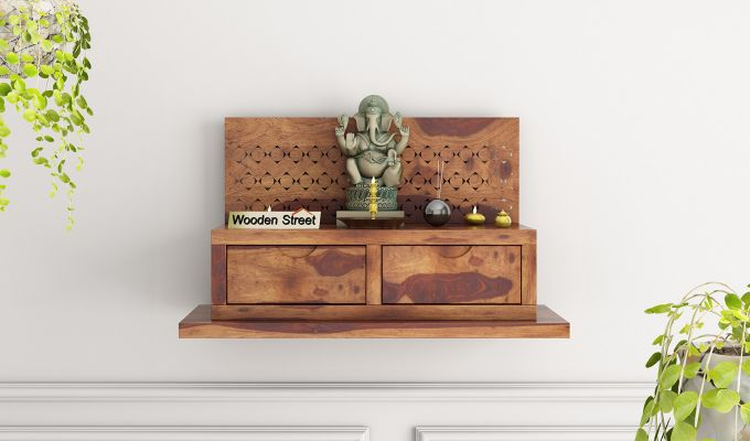 Advait Home Temple (Teak Finish)-1