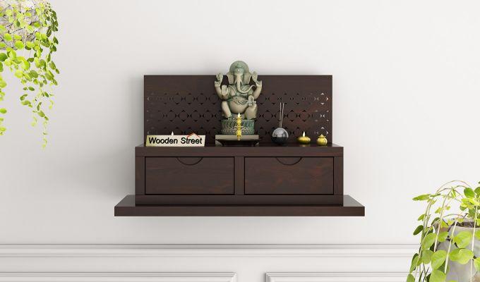 Advait Home Temple (Walnut Finish)-1