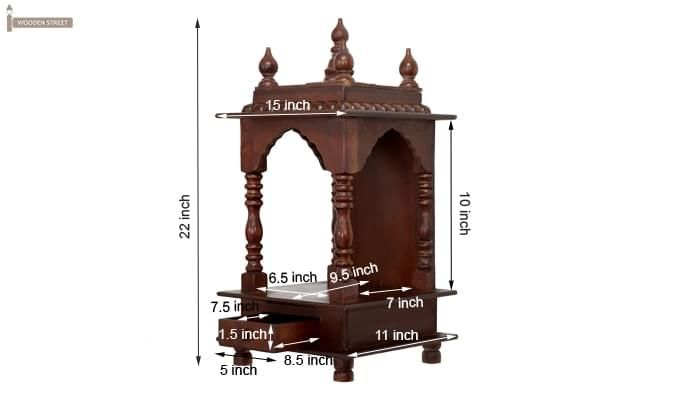 Anjalika Home Temple (Mahogany Finish)-8
