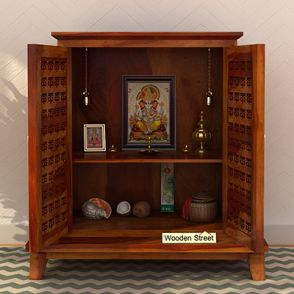 Wooden Home Temple | Buy Pooja Mandir For Home online at 55% OFF