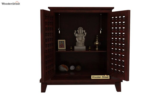 bba23b3b6 Buy Bhagavati Home Temple (Mahogany Finish) Online in India ...