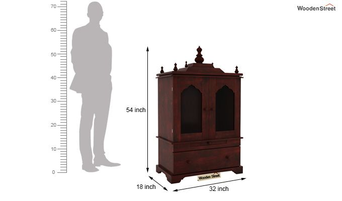 Bhagirathi Home Temple (Mahogany Finish)-7