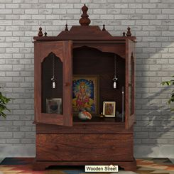 Bhagirathi Home Temple (Walnut Finish)