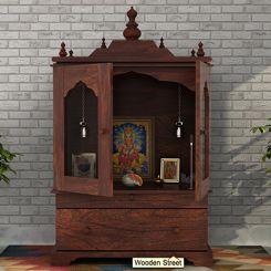 Bhagirathi Home Temple (Walnut Finish)