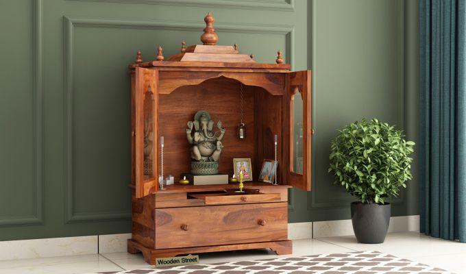 Bhagirathi Home Temple (Honey Finish)-1