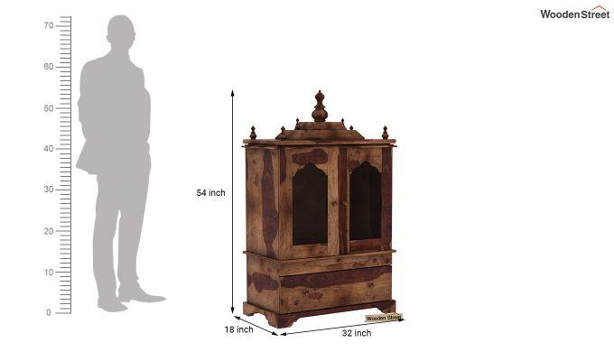 Bhagirathi Home Temple (Teak Finish)-5