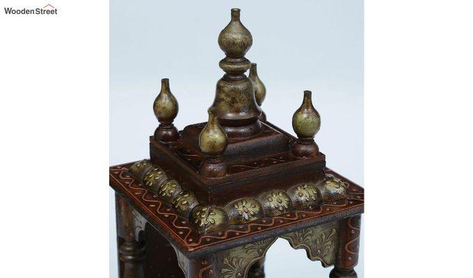 Copper Sheesham Wood Pooja Mandir-3