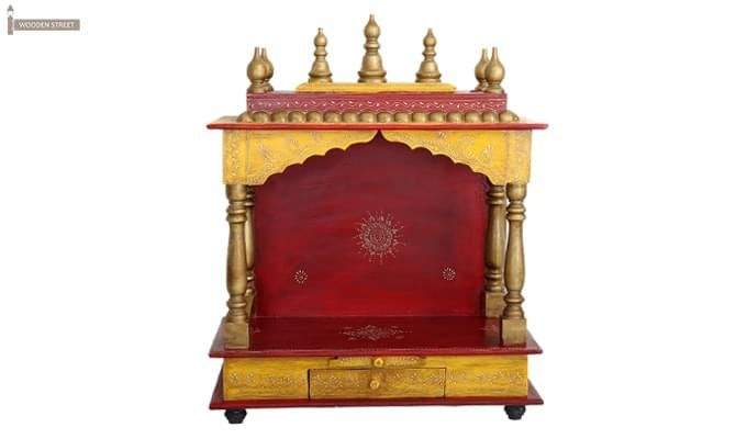 Mannat Home Temple (Red and Yellow)-4
