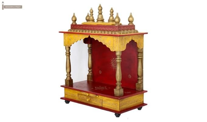 Mannat Home Temple (Red and Yellow)-7