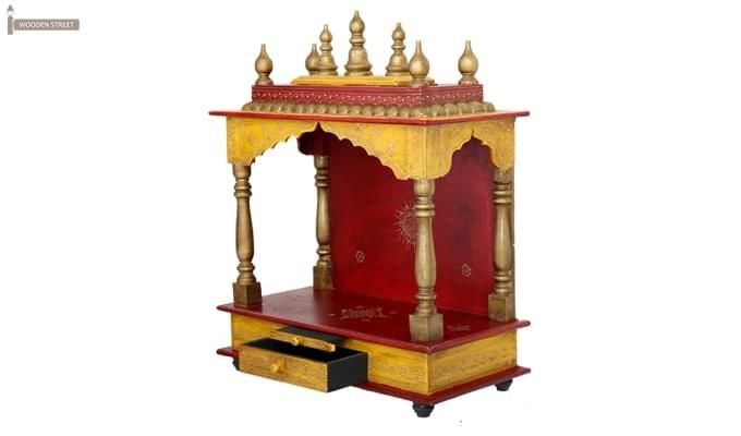 Mannat Home Temple (Red and Yellow)-8