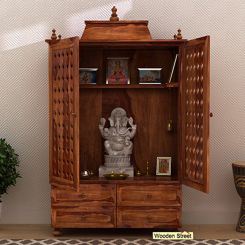 Maurya Home Temple (Teak Finish)