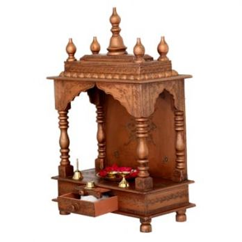 wooden pooja mandir for home in Chandigarh, Gurgaon, Hyderabad, Indore, India