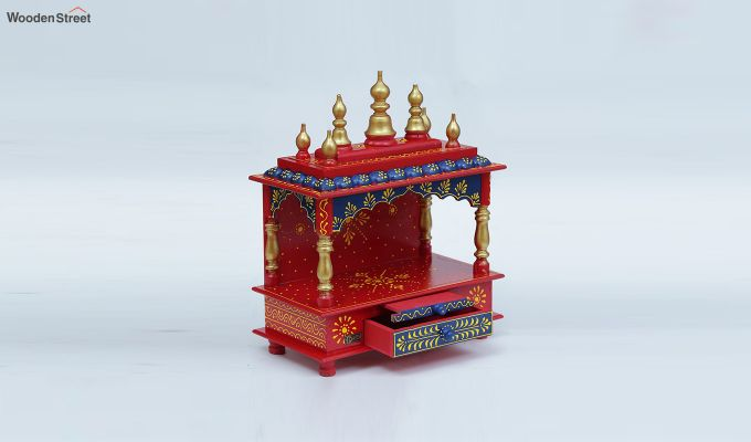 Multicolour Sheesham Wood Pooja Mandir-2