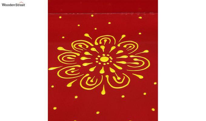 Red Pine Wood Pooja Mandir-4