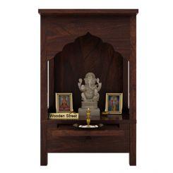 Sanjeevani Home Temple (Walnut Finish)