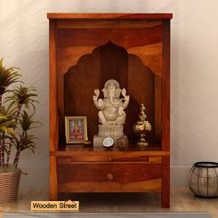 Sanjeevani Home Temple (Honey Finish)