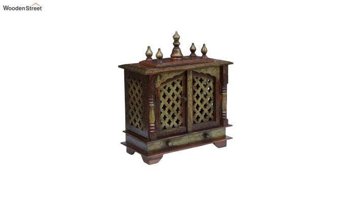 Sheesham Wood Copper Home Temple-2