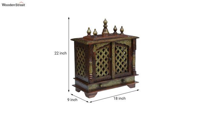 Sheesham Wood Copper Home Temple-4