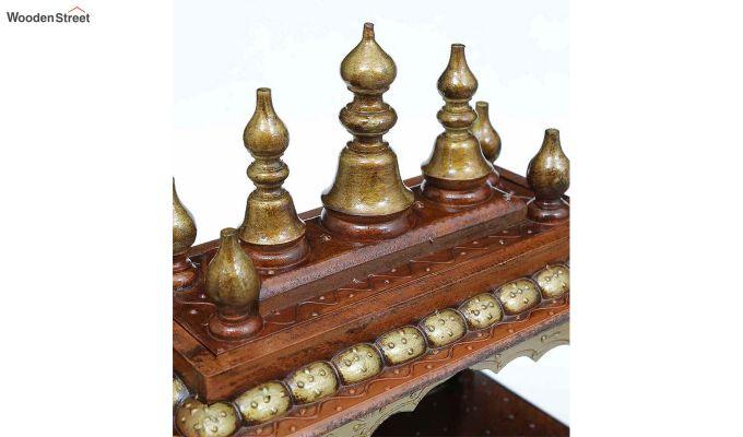 Sheesham Wood Copper Pooja Mandir-2